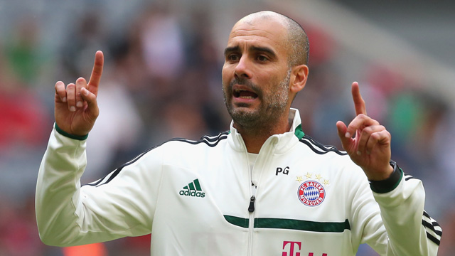 Pep Guardiola conducts first training session at Bayern Munich - video