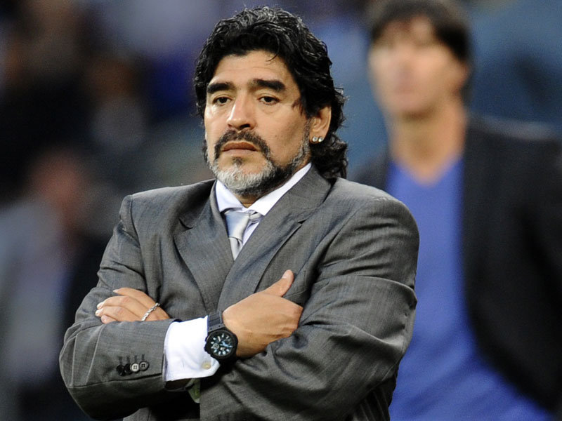Diego Maradona will never change. Iconic figure of soccer, the world ...