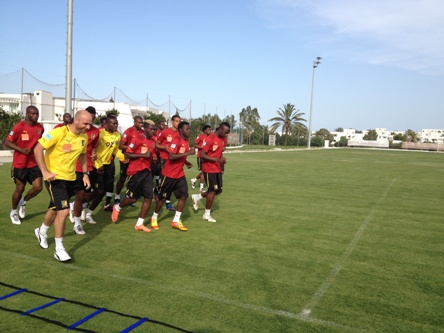 Illustration_Football_Cameroun_Lions_Entrainement