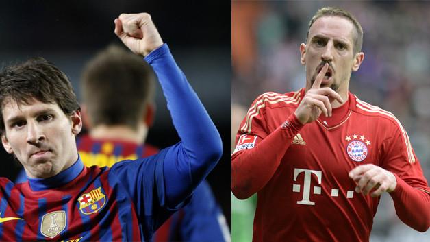 Lionel-Messi-vs-Frank-Ribéry-Bayern-Barça