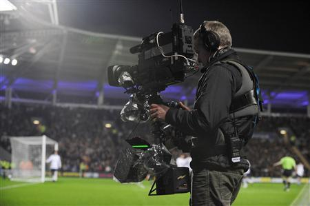 File photo of Setanta Sports cameraman working during English Premier League match between Hull City and Tottenham Hotspur
