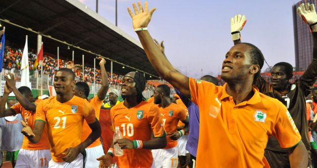 Ivory Coast's National footbal team play