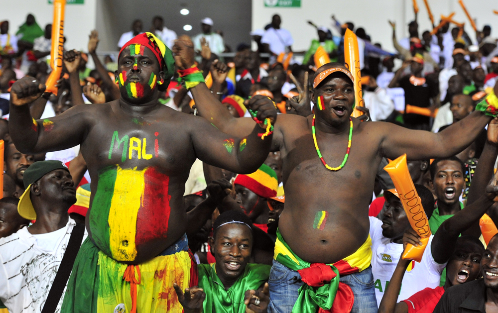 Supporters of the Malian national footba