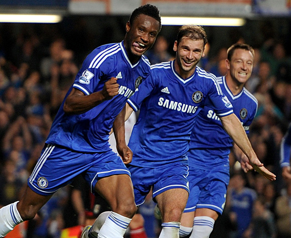mikel delights in first epl goal