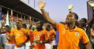 Ivory Coast's National footbal team play