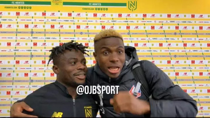 Moses Simon and Victor Osimhen
