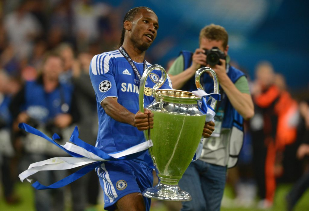 Didier Drogba played a major role in Chelsea's 2012 UCL win as he shooted the winning-penalty for the Blues.