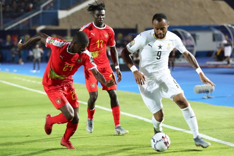 Crystal Palace star Jordan Ayew during international duty.