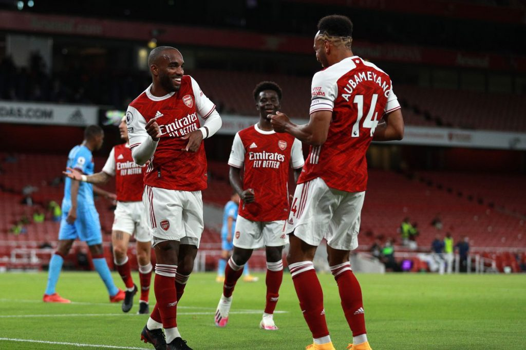 Arteta can count on his burning duo Lacazette - Aubameyang to challenge Reds.