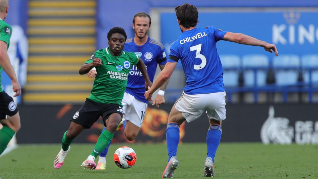 Tariq Lamptey in action against Leicester City.