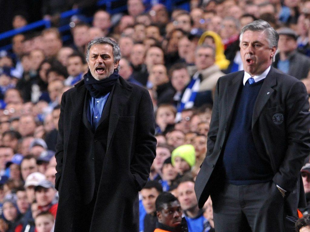 Mourinho vs Ancelotti : the other battle in this Tottenham v Everton clash.