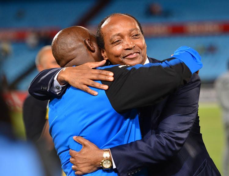 Pitso Mosimane and Patrice Motsepe.