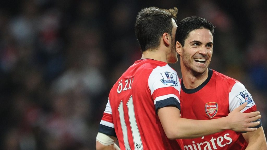 Mikel Arteta and Mesut Özil played together at Arsenal before the Spanish retire.