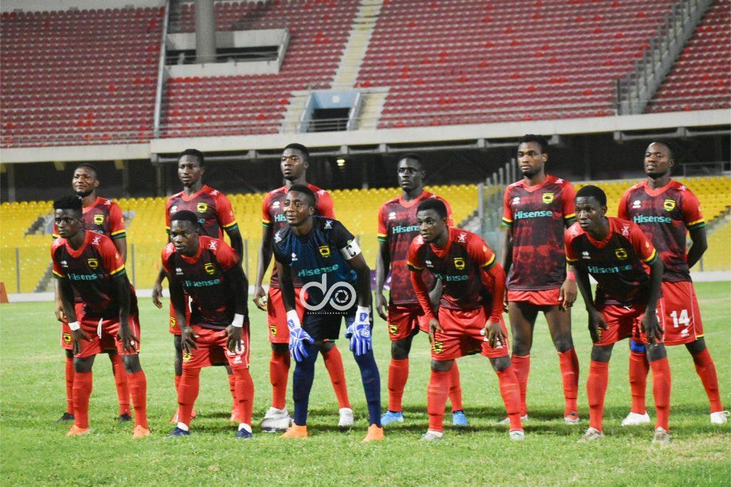 Asante Kotoko XI against Berekum.