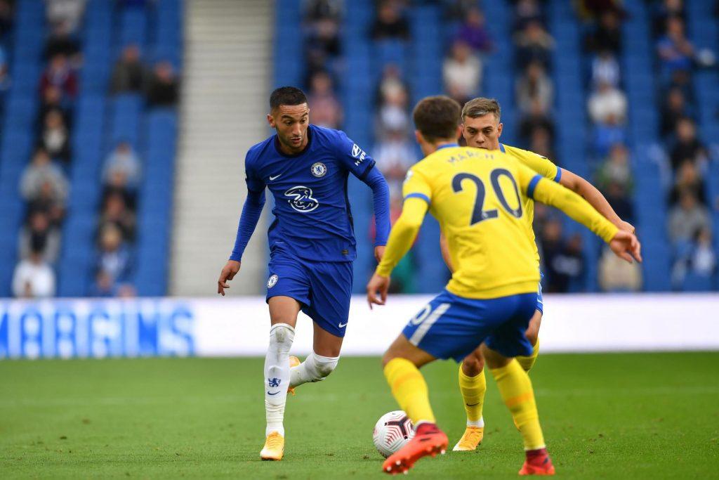 Hakim Ziyech in action against Brighton.