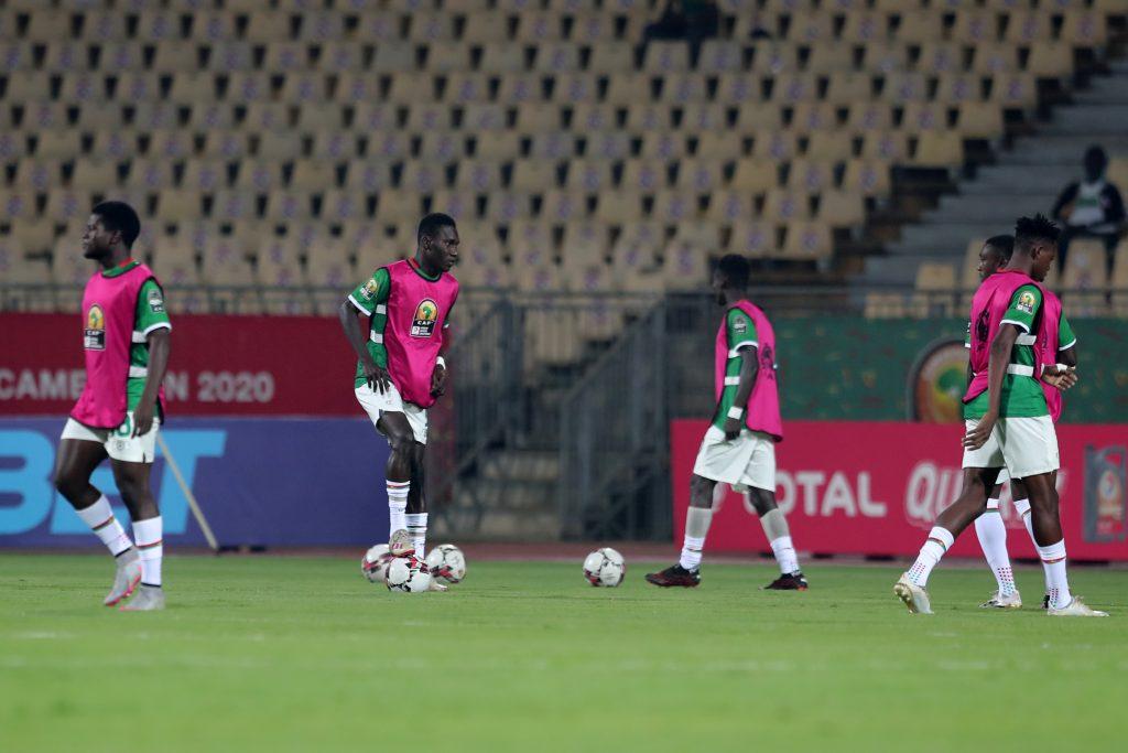 Burkina Faso's Stallions warming up.