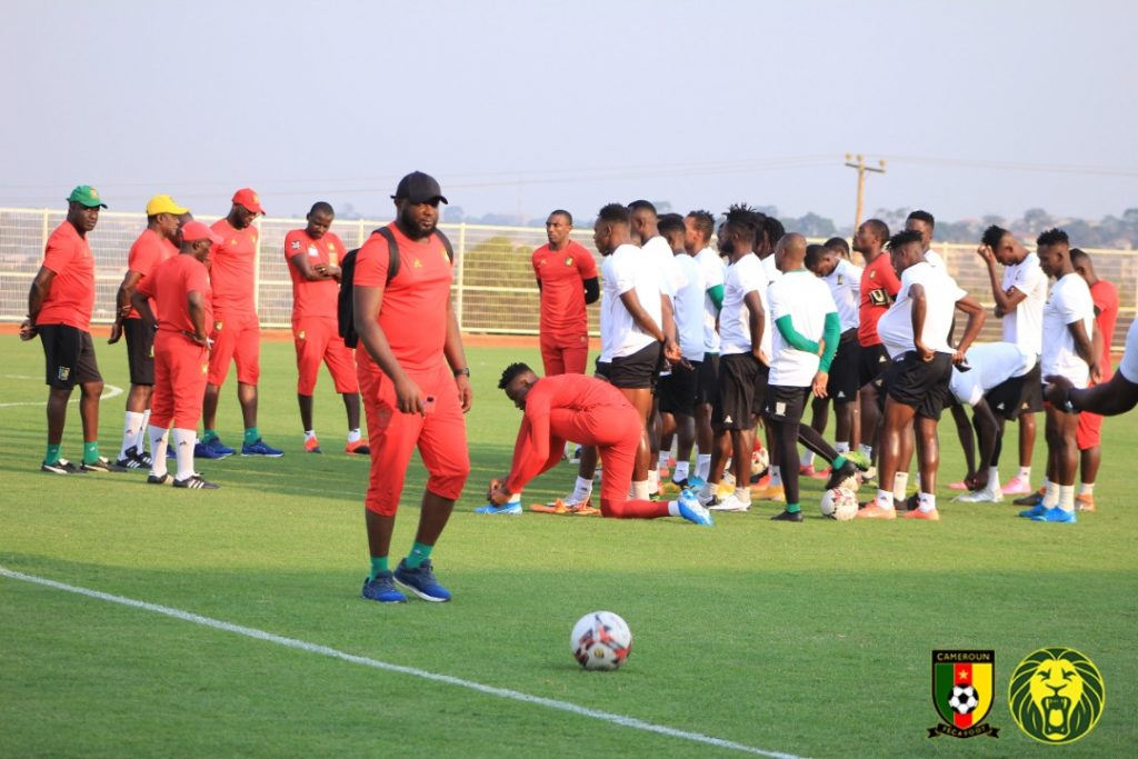Intermediate Lions' last training session ahead of their clash vs Mali. ©FECAFOOT