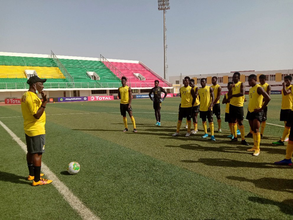 Ibrahim Danlad and teammates completed their last training session on Wednesday.