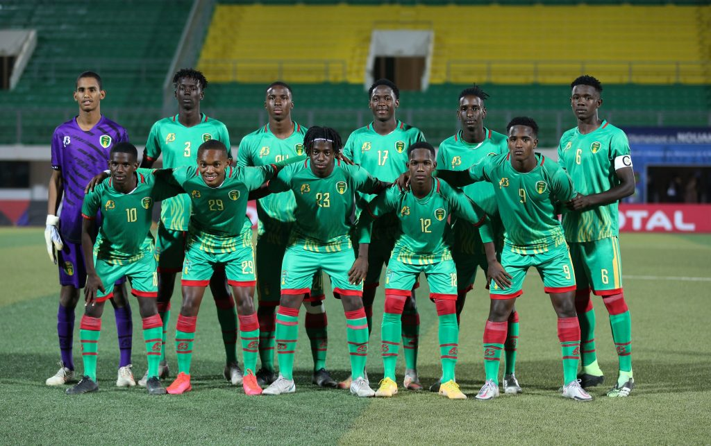Mauritania XI against Cameroon in AFCON U-20 opener.