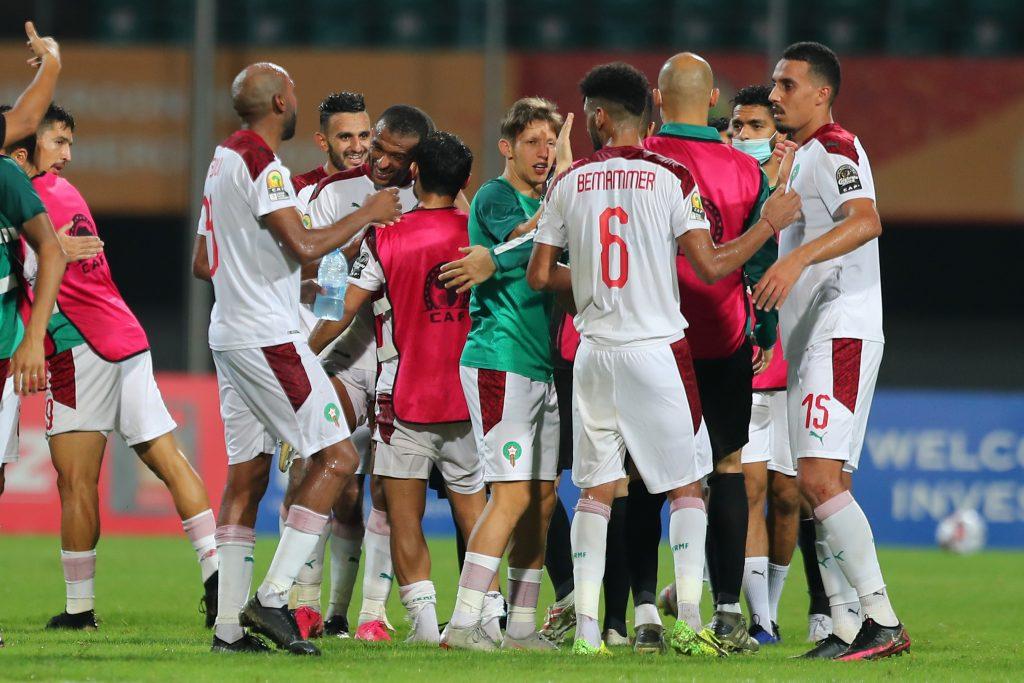 Houcine Ammouta and his men celebrating.