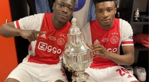 Mohammed Kudus celebrates first trophy with Ajax Amsterdam