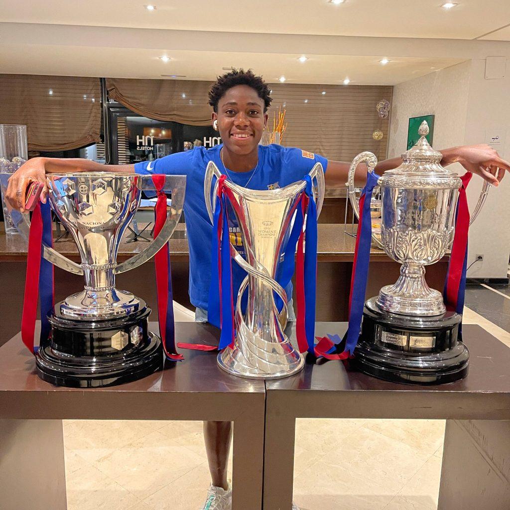 Asisat Oshoala wins triplet with Barca after Copa De La Reina triumph