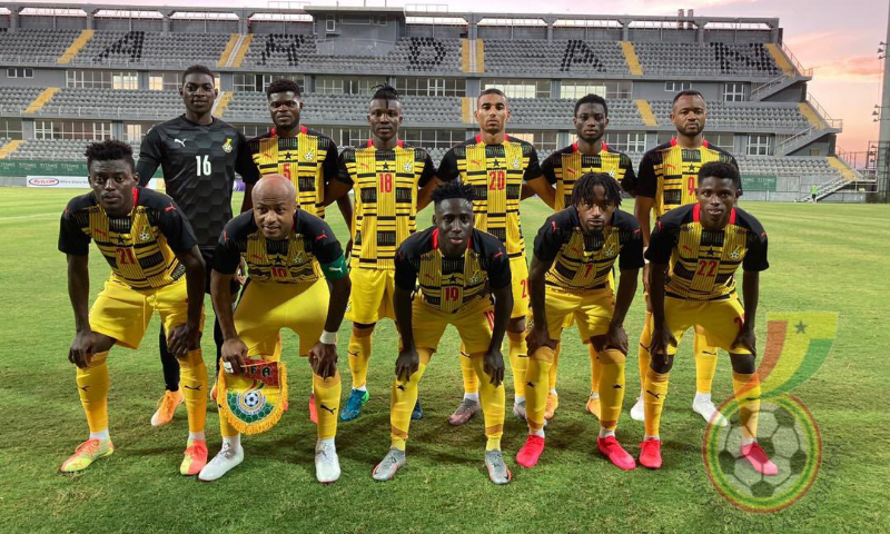 Ghana Black Stars during AFCON 2021 qualifiers. ®Ghana FA