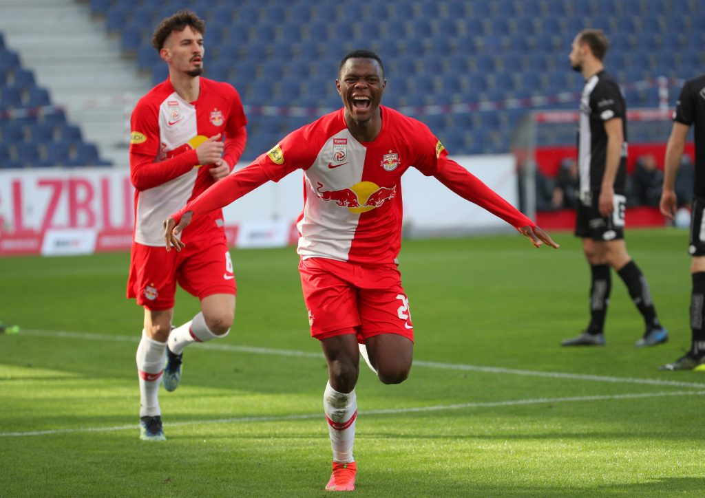 Patson Daka scored 68 goals and has 27 assists to his name in 125 appearances with RB Salzburg. (Photo by Chris Bauer/SEPA.Media /Getty Images)