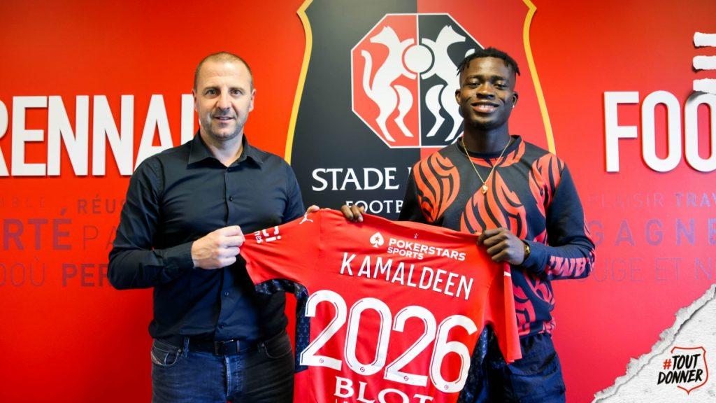 Kamaldeen Sulemana after signing with Rennes.