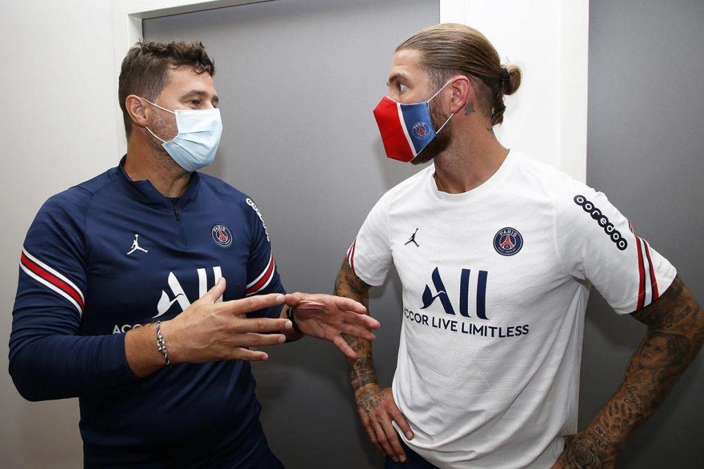 Sergio Ramos met his new boss Mauricio Pochettino.