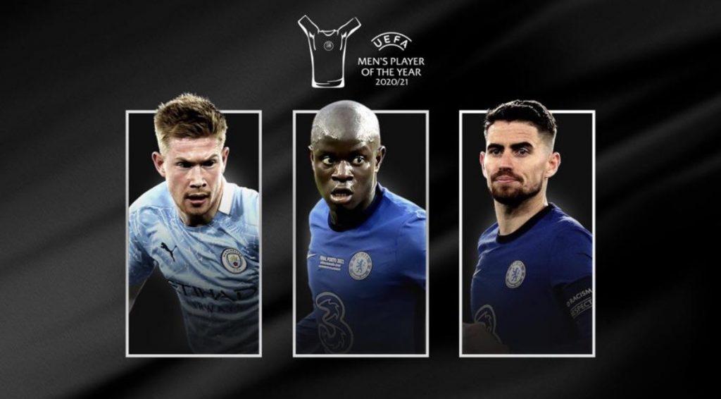Kante, Jorginho, De Bruyne In Contention For UEFA Player Of The Season