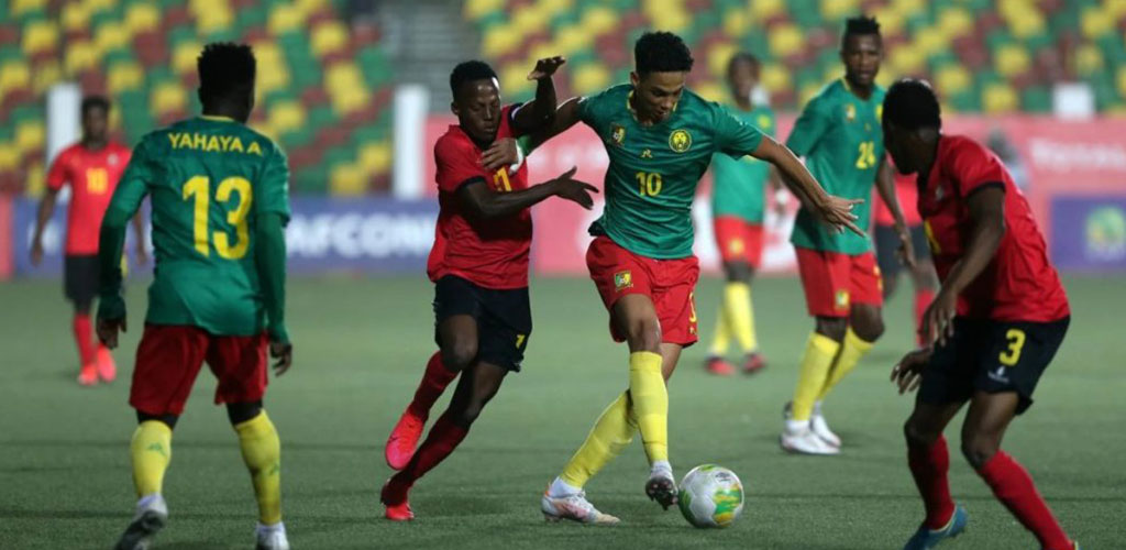 Etienne Eto'o in action during the AFCON U20.