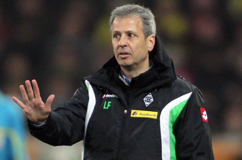Lucien Favre here working as Mönchengladbach coach.