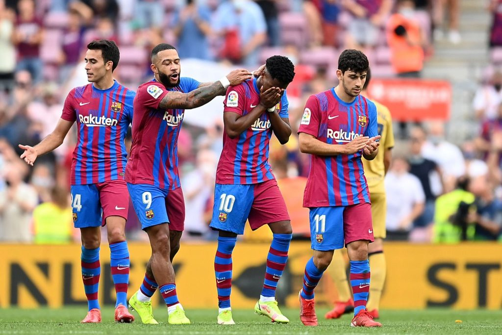 Ansu Fati crying after his goal vs Levante.