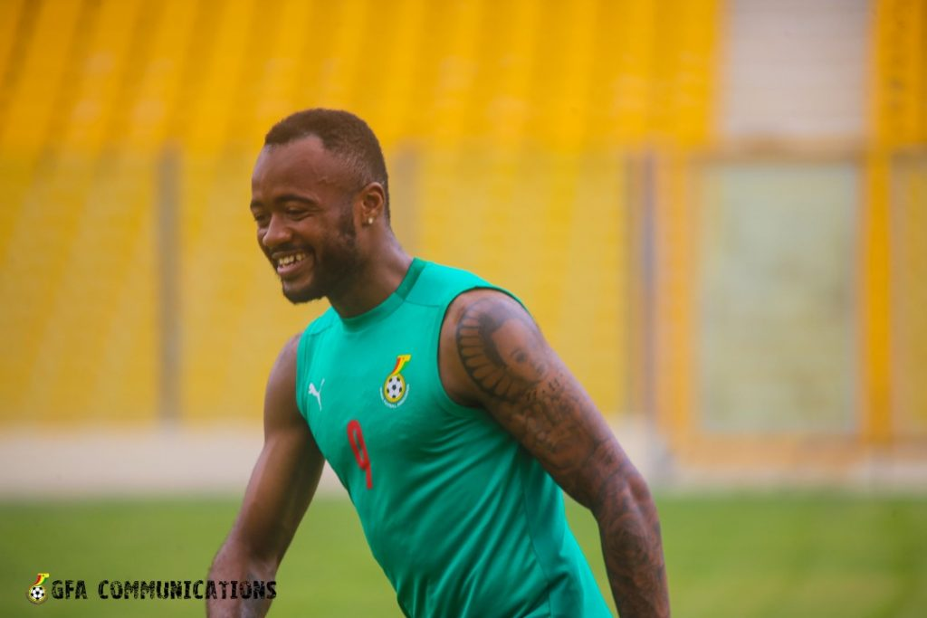Jordan Ayew keep smiling and expect to end his goal drought with Ghana.