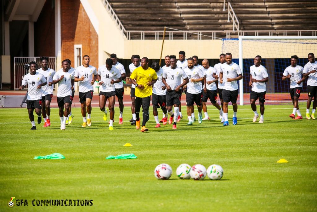 Black Stars last training session ahead of this afternoon's clash vs Warriors.